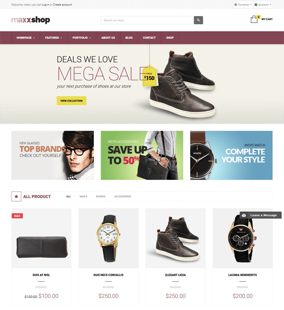 maxx shoe store shopify themes