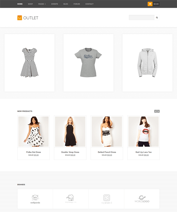 outlet woocommerce themes