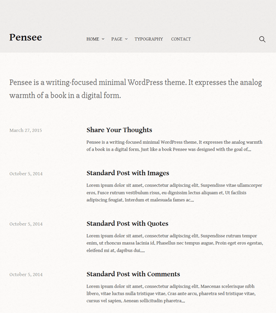 pensee book wordpress themes