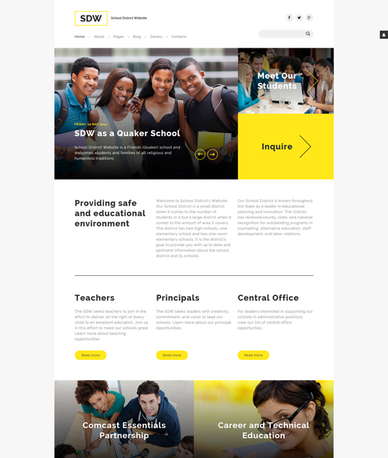 sdw education joomla templates