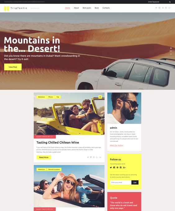 triptastic travel wordpress themes