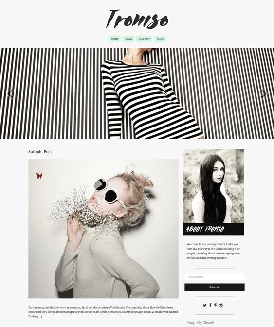 tromso fashion blog wordpress themes
