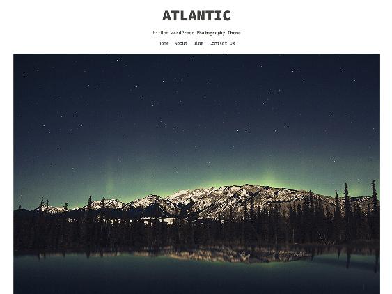 atlantic free minimal wordpress themes