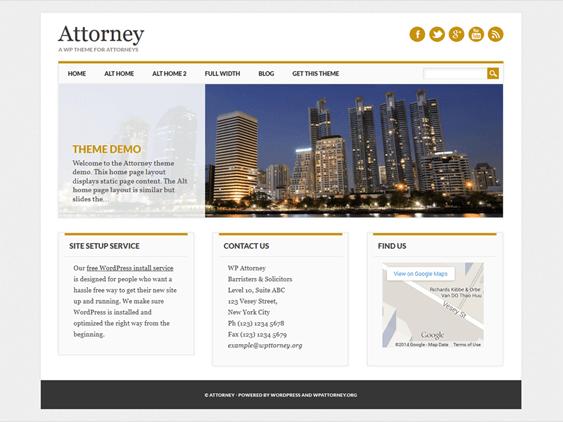free lawyers attorneys wordpress themes