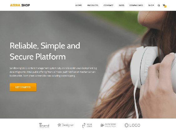 azera free one page wordpress themes