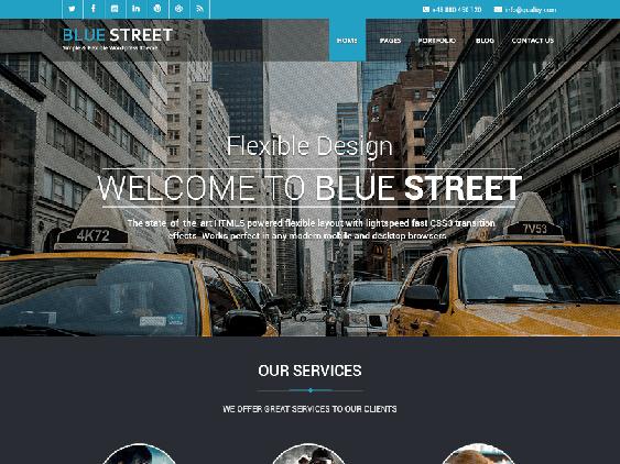 bluestreet free dark wordpress themes