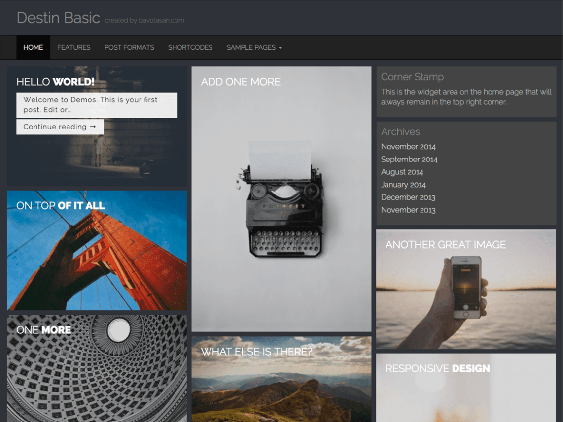 destin free dark wordpress themes