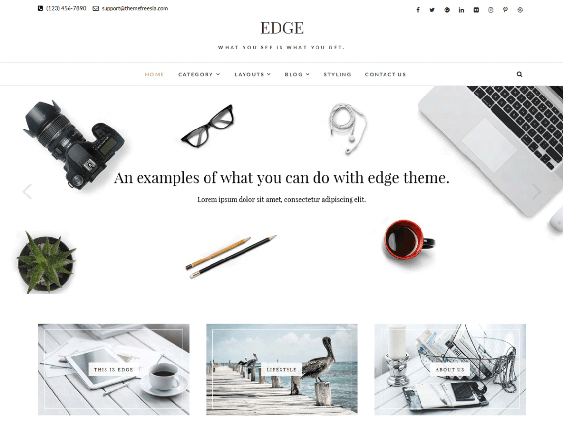 edge free minimal wordpress themes