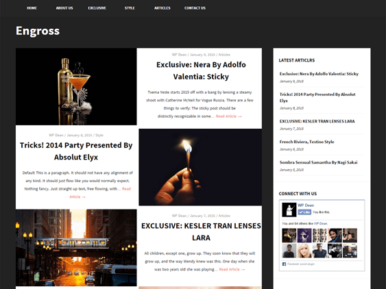 engross free dark wordpress themes