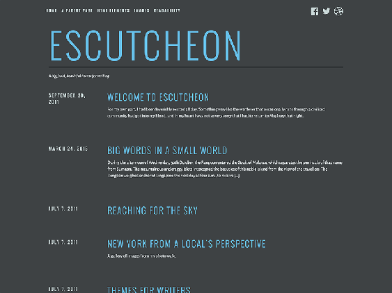 escutcheon free dark wordpress themes