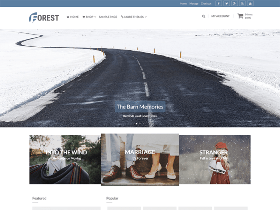 forest free woocommerce themes