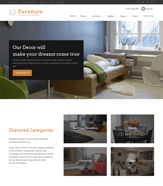 furniture woocommerce themes