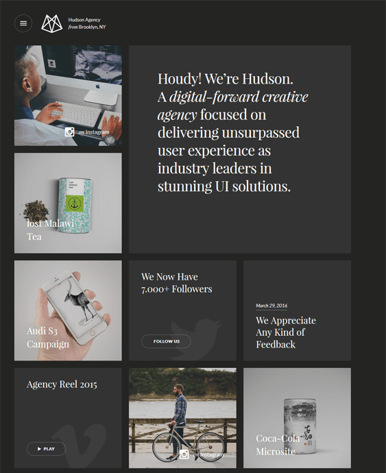 hudson dark wordpress themes