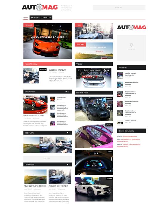 hybrid automotive car vehicle wordpress themes