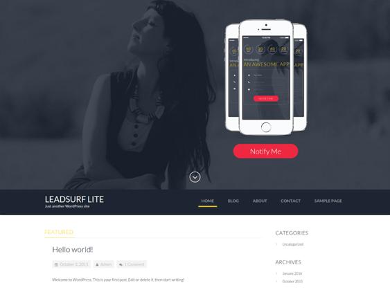 leadsurf free wordpress themes promoting apps