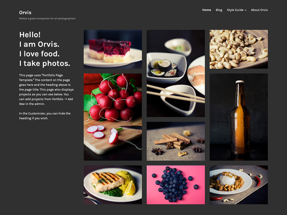 orvis free dark wordpress themes