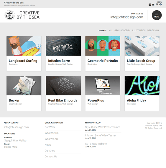 cards portfolio wordpress themes