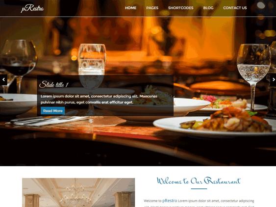 prestro free restaurant wordpress themes
