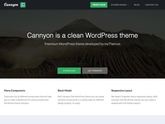 cannyon free parallax wordpress themes
