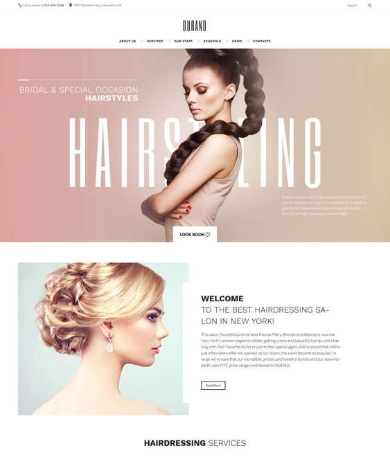 durand beauty salons spas wordpress themes