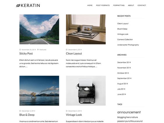 keratin free masonry wordpress themes