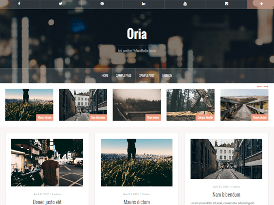 oria free masonry wordpress themes