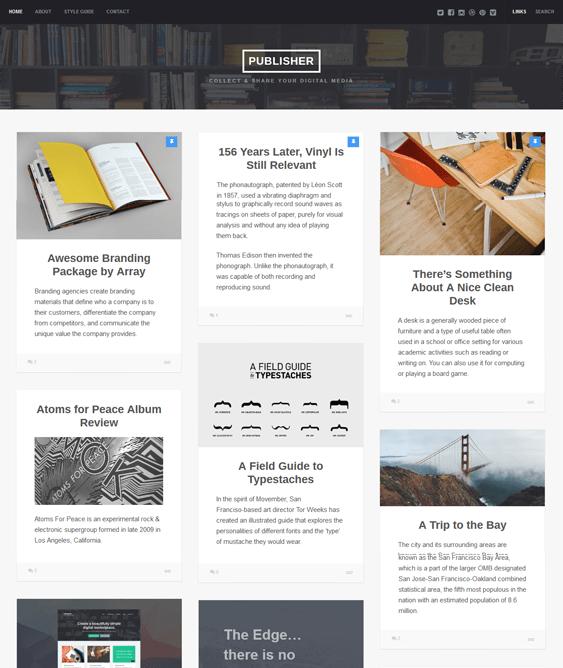 publisher masonry wordpress themes