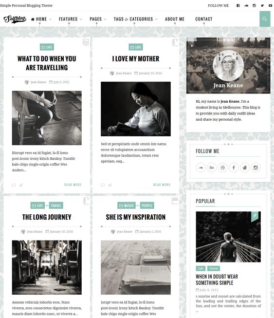 selfblog masonry wordpress themes