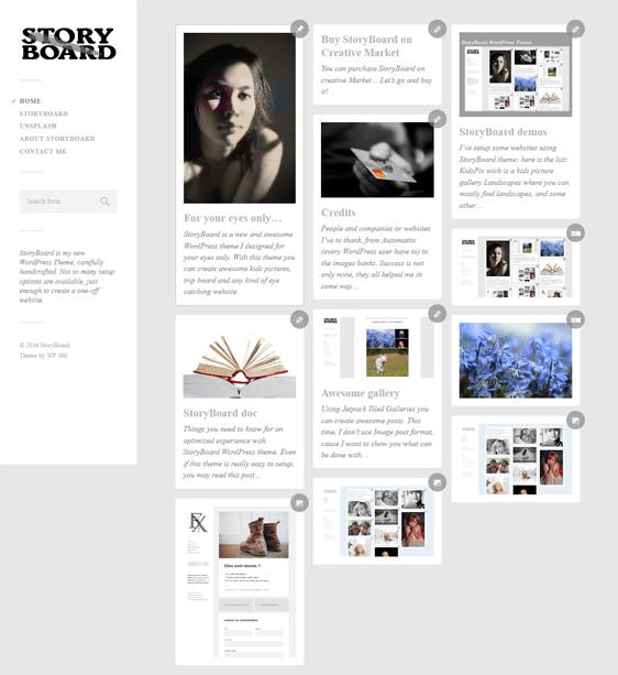 storyboard masonry wordpress themes