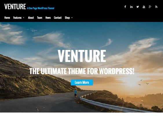venture free parallax wordpress themes