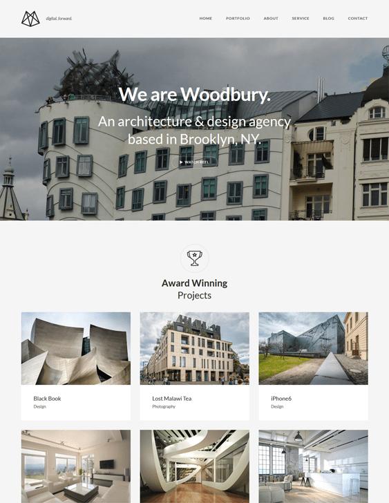 woodbury architecture wordpress themes