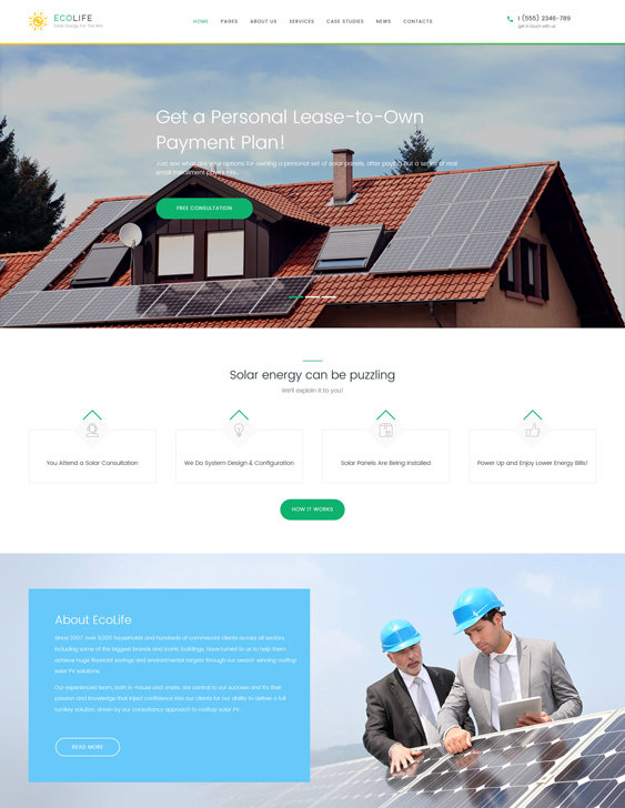Eco Life - Environment & Ecology WordPress Theme green eco-friendly organic wordpress themes