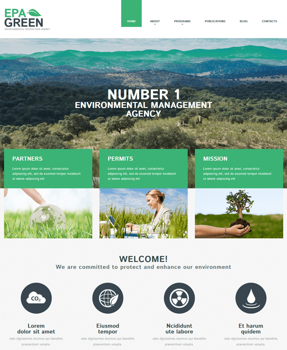 environmental green eco-friendly organic wordpress themes