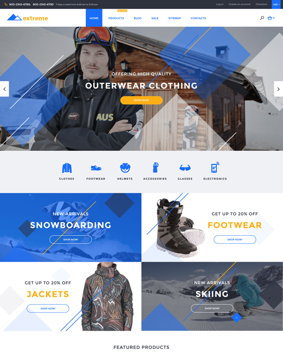 Extreme responsive shopify themes
