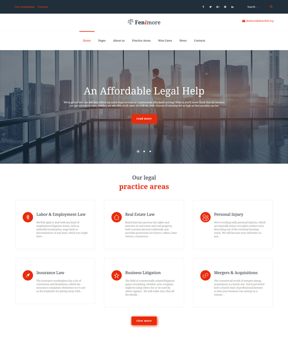 fenimore lawyer wordpress themes
