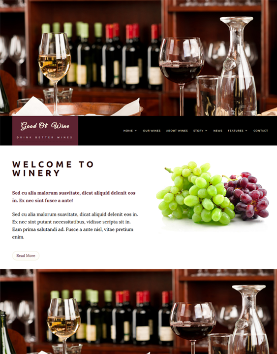 good ol food drink wordpress themes