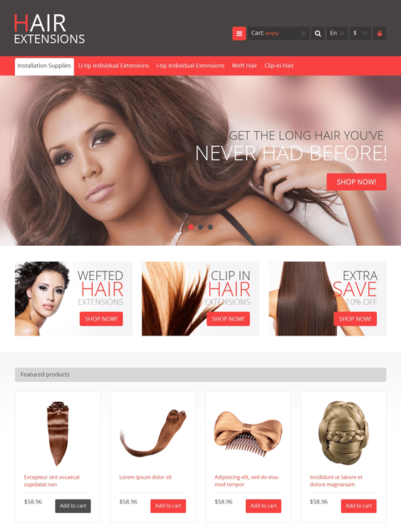 luxury hair products prestashop themes