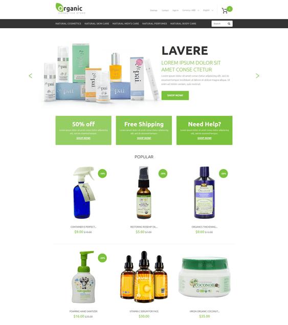 organic goods prestashop themes beauty products cosmetics make up