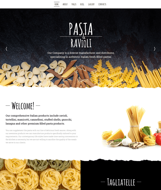 pasta clean joomla templates