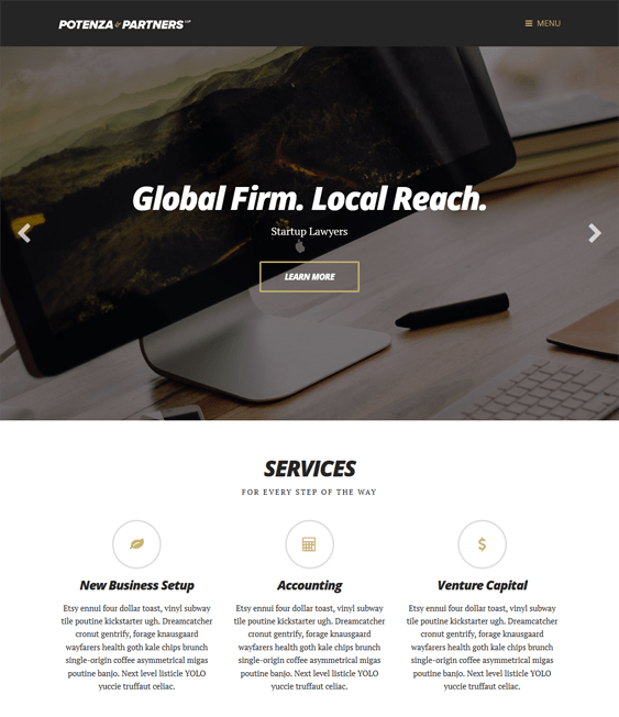 potenza lawyer wordpress themes