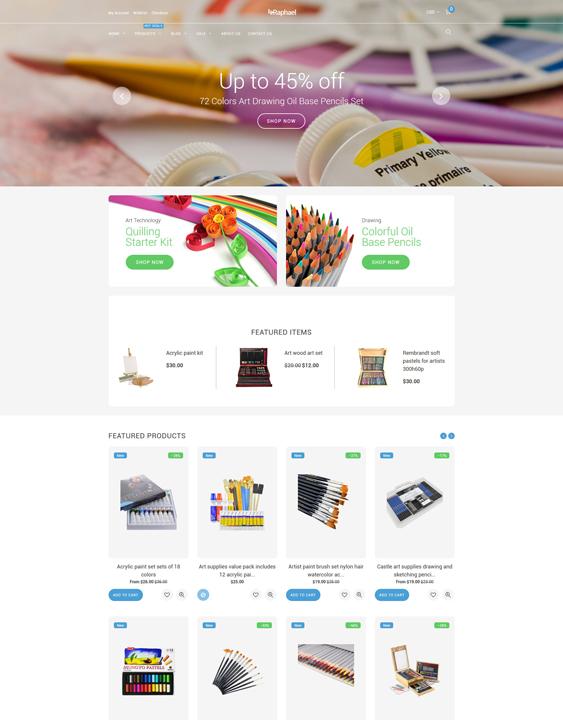 Raphael responsive shopify themes