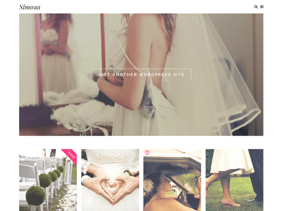 simona free wedding wordpress themes