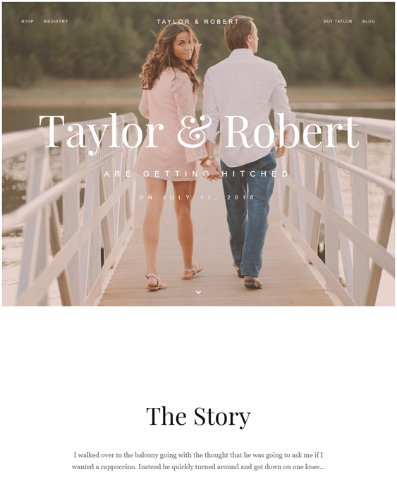 taylor wedding wordpress themes