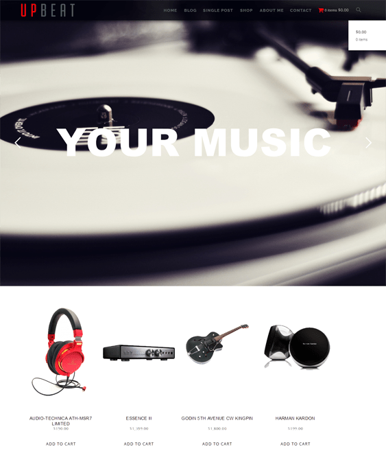 upbeat music wordpress themes