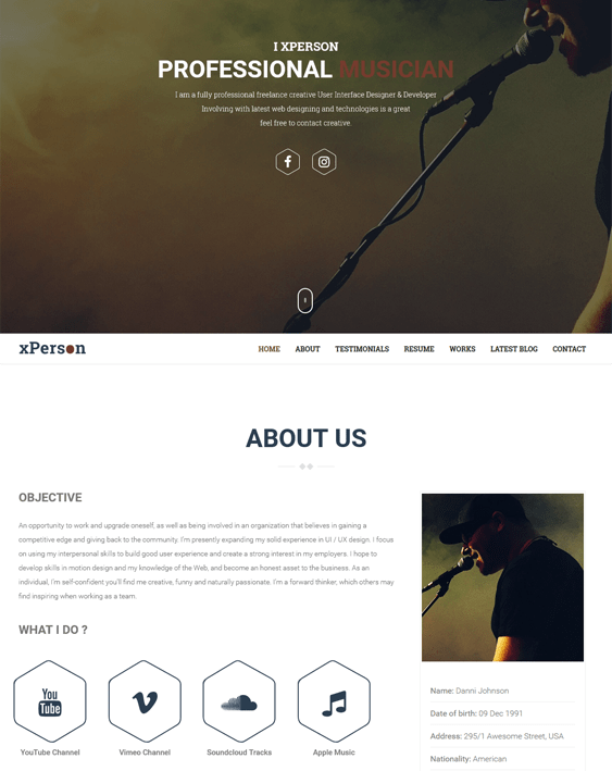 xperson music wordpress themes
