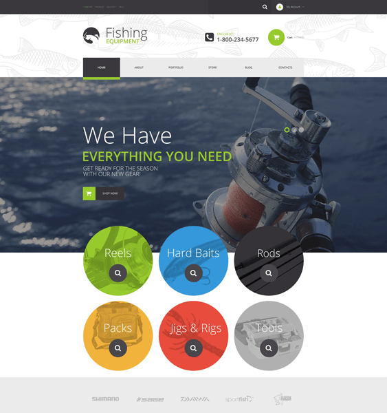 fishing sports woocommerce themes