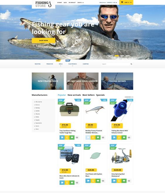 fishing prestashop themes sports stores