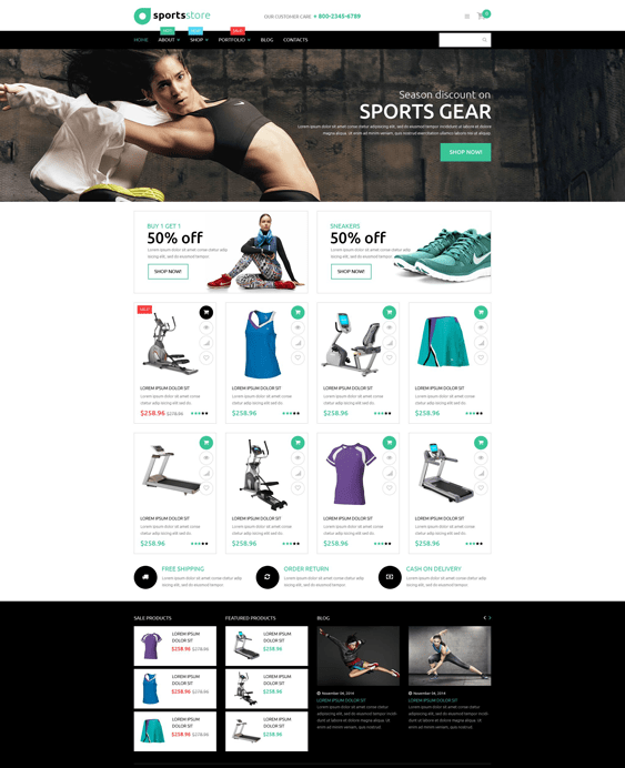 fitness sports woocommerce themes