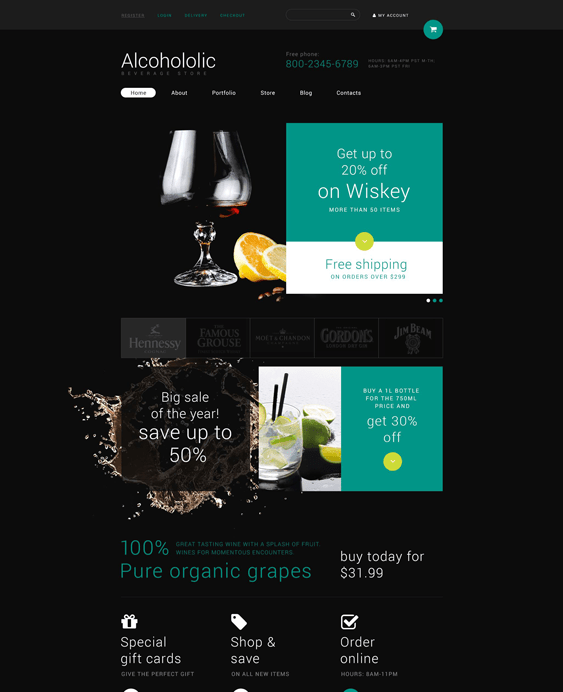 food drink woocommerce themes