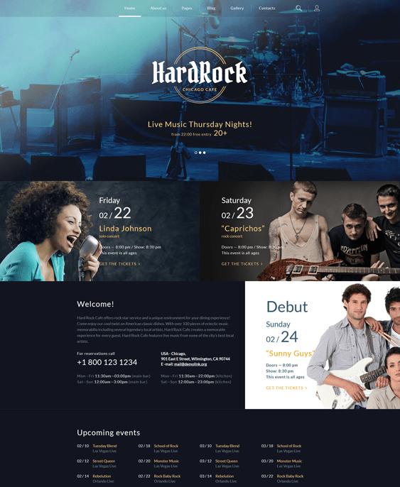hardrock music joomla templates